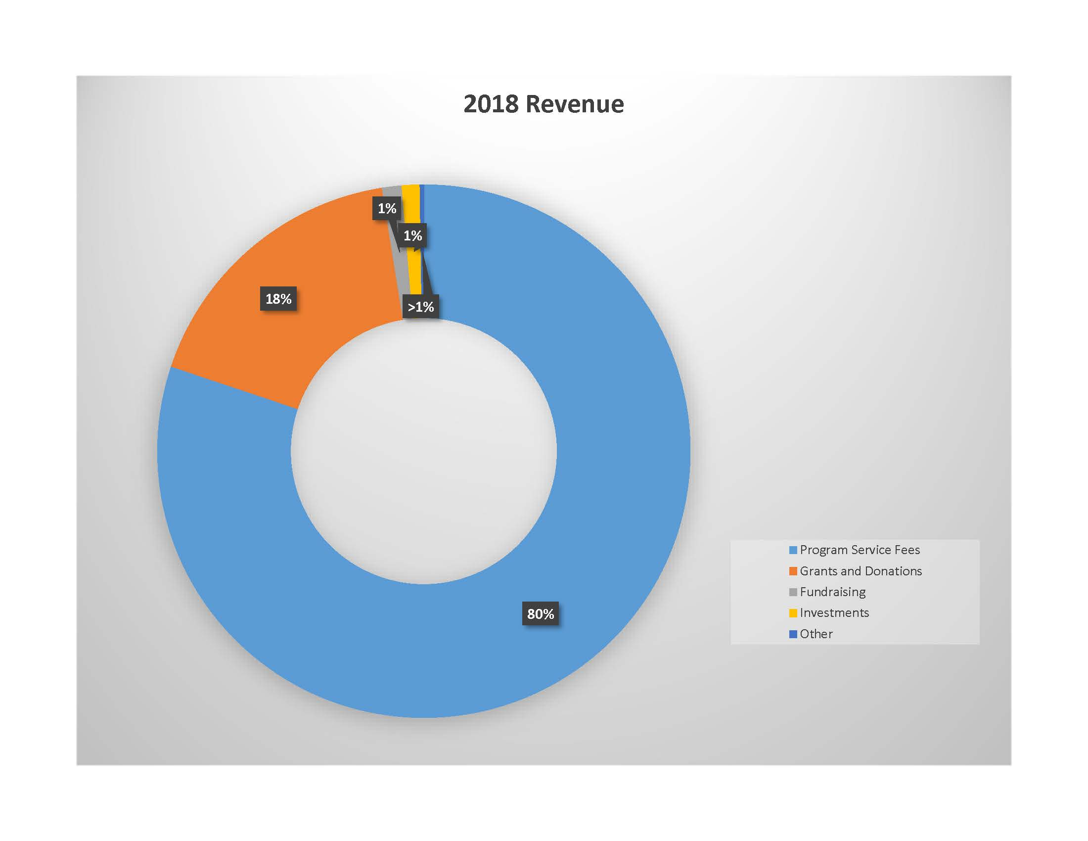 Expenses Revenue 2018 Chart